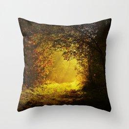 Via nel bosco Throw Pillow