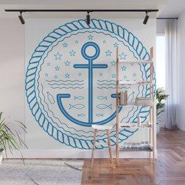 Blue Anchor Wall Mural