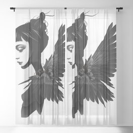 Queen Of Hearts Sheer Curtain
