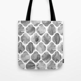 Black and White Tile Print Tote Bag