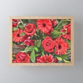 Red Flowers Framed Mini Art Print