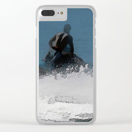 Ready to Make Waves - Jet Skier Clear iPhone Case