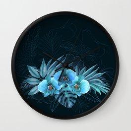 Hawaiian Midnight Garden Wall Clock