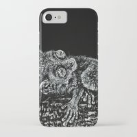 philippines iPhone & iPod Cases featuring Bohol Tarsier from the Philippines by Nathan Cole