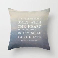 III. Anything essential is invisible to the eyes. Throw Pillow
