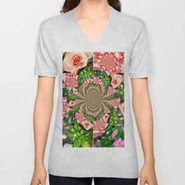 Rose Petal Mandala Unisex V-Neck
