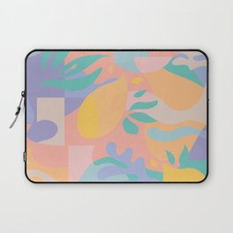 Lemons in Amalfi / Abstract shapes, Pink, Turquoise, Yellow, Lavender Laptop Sleeve