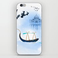 voyage iPhone & iPod Skins featuring VOYAGE by Rash Art
