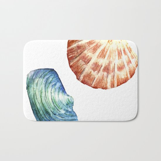 Colorful Shells Bath Mat