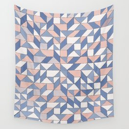 Shifting geometric pattern Wall Tapestry