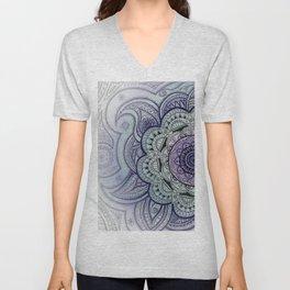 Mandala Violet Unisex V-Neck