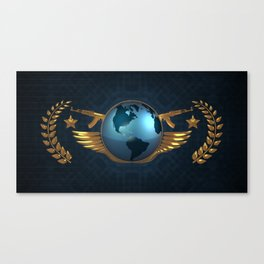 CS GO The Global Elite (Simple/Background) Canvas Print