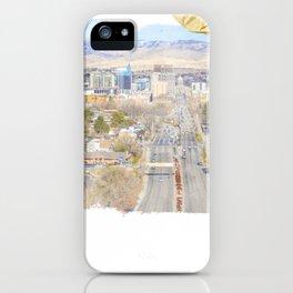 Boise, Idaho, City Skyline Train Depot Design iPhone Case