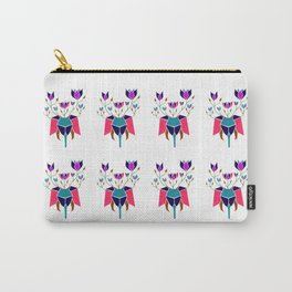 Elephant with Flowers Gold Pink Green Blue and Magenta Carry-All Pouch