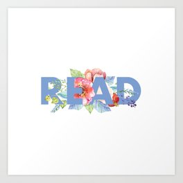 Floral READ Art Print
