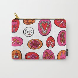 Bright Celebration Rock Doodles Carry-All Pouch