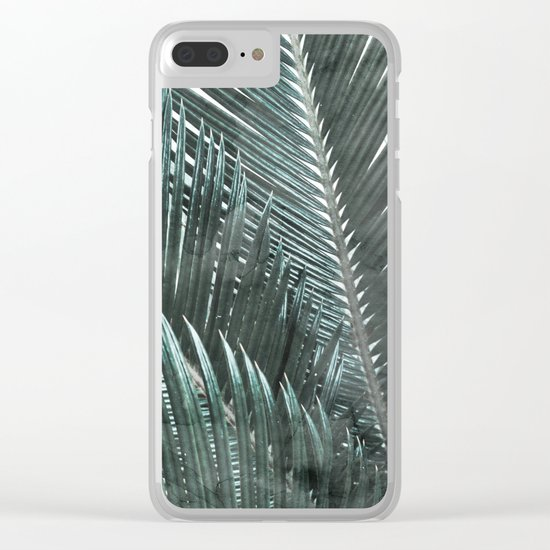 Simply Palms Clear iPhone Case