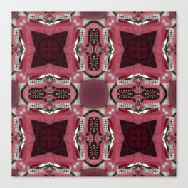 Soft Red Quadrant Canvas Print