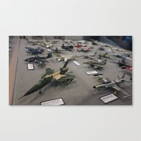 military Canvas Prints featuring Military Jets by sannngat