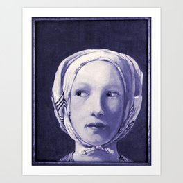 The Thief in Indigo Art Print