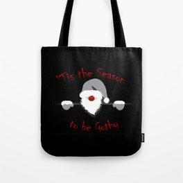 Tis the Season to be Gothy - Goth Santa Christmas Tote Bag