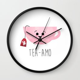 Tea-amo Wall Clock