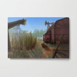 Small Farm Metal Print