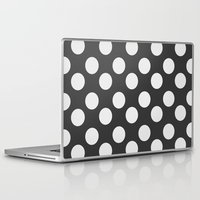 polka dots Laptop & iPad Skins featuring Polka Dots by Nobu Design
