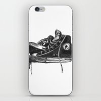 sneakers iPhone & iPod Skins featuring sneakers by Cardula