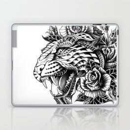 Ornate Leopard Black & White Variant Laptop & iPad Skin