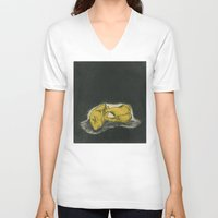 teeth V-neck T-shirts featuring Teeth by Tallie Raye