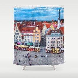 Tallinn art 10 #tallinn #city Shower Curtain
