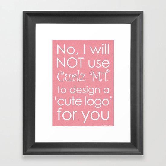 Curlz Hate Framed Art Print