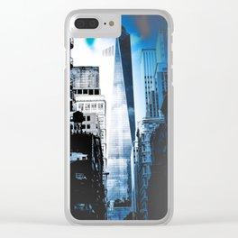 MAHNHATTAN BLUES Clear iPhone Case