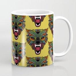 wolf fight flight ochre Coffee Mug