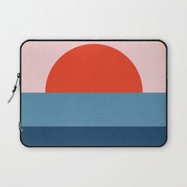 geometric sunset - art, interior, drawing, decor, design, bauhaus, abstract, decoration, home, gift, Laptop Sleeve