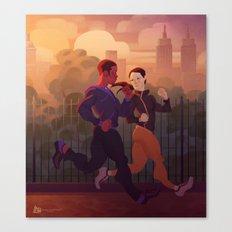 Running buddies Canvas Print