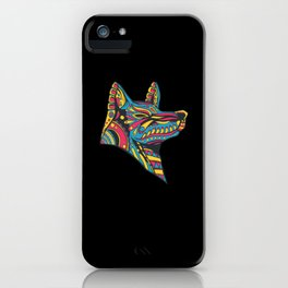 Mexican Huichol Aesthetic Art Wolf iPhone Case