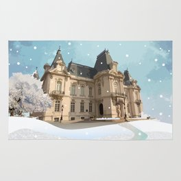Winter at the Castle Rug