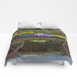 Spring Flowers in Cart Comforters