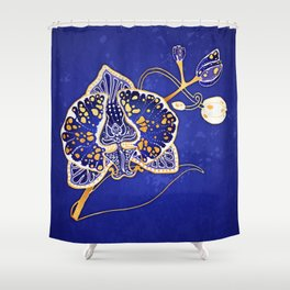 Egyptian Blue :: Orchid Shower Curtain