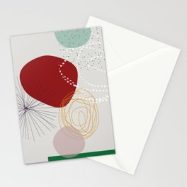 modern abstract VI Stationery Cards