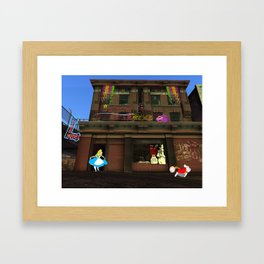Alice in Crackland Framed Art Print