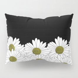Daisy Boarder Black and Yellow Pillow Sham