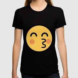 Smiley Face   Kissing Face With Red Cheeks T-shirt