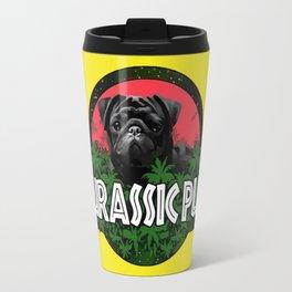 Jurassic pug Travel Mug