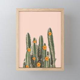 Cactus & Flowers Framed Mini Art Print