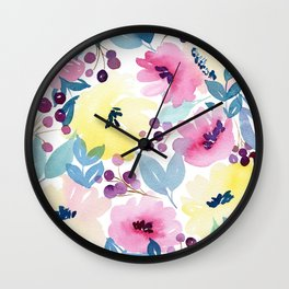 Tropical Poppies Wall Clock