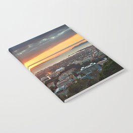 View of San Francisco Bay Area at Sunset from UC Berkeley Notebook