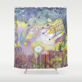 Ave Fenix in Love Shower Curtain